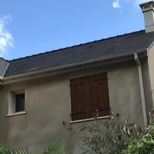 Photo après le démoussage de la toiture à Orvault