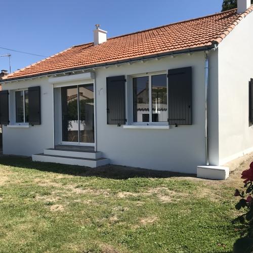 Après ravalement d'imperméabilité par l'entreprise de peinture Nord Habitat près de Nantes