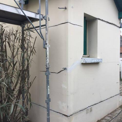 Fissuration importante de façade à Nantes