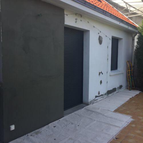 réalisation d'un ragréage extérieur de façade