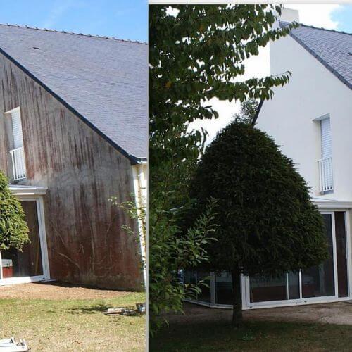 Avant - Après un nettoyage de façade