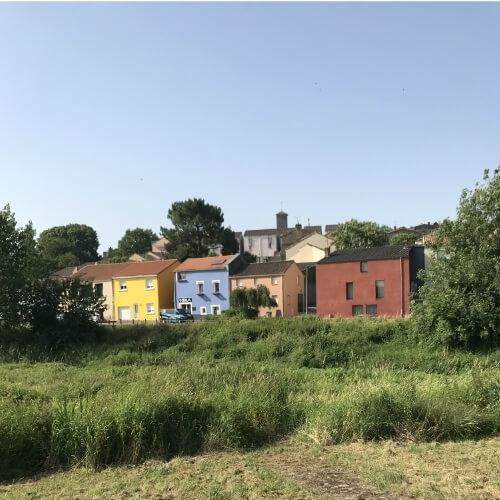 Simulation de couleur de façade d'un chantier situé dans la ville de Bouguenais 44